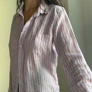 FRANK + EILEEN STRIPED BLOUSE SIZE SMALL